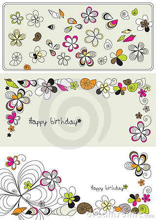 Vector graphic set with flowers