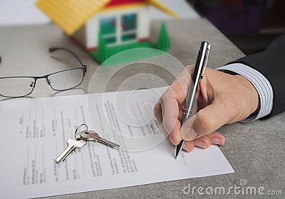 Signed house purchase agreement after the loan approval.