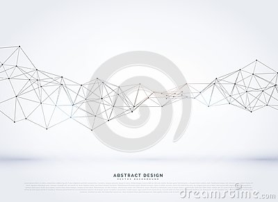 vector polygonal abstract network wireframe background