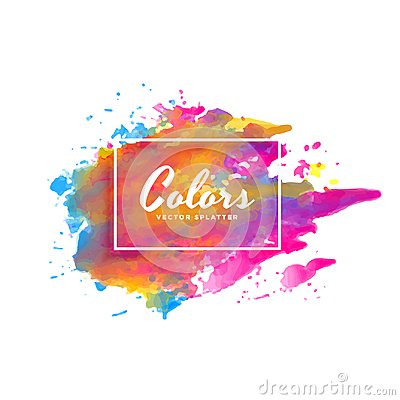 Colorful ink splatter watercolor background