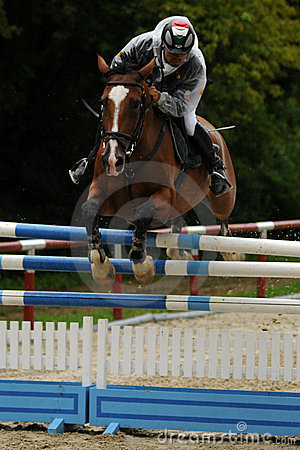 Showjumping action