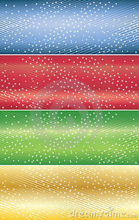Vector abstract banners with star