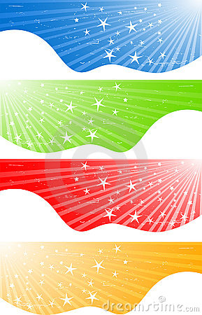Vector abstract banners with stars