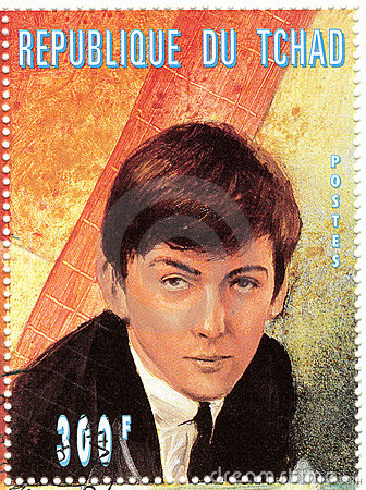 Stamp with George Harrison