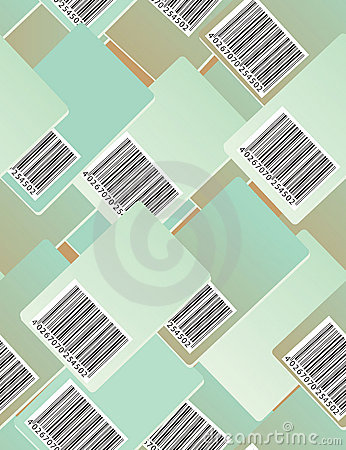 Bar code. Seamless pattern