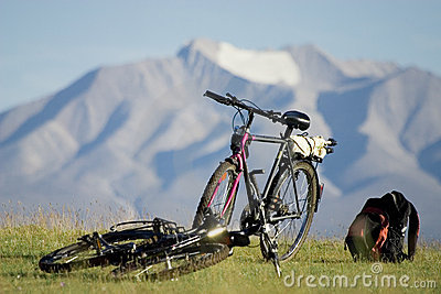 Bicycles in mountains