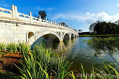 Arch bridge in Chinese Garden