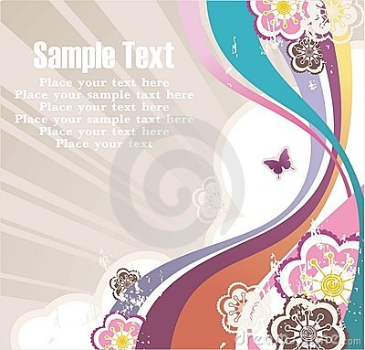 Striped background with free space for your text