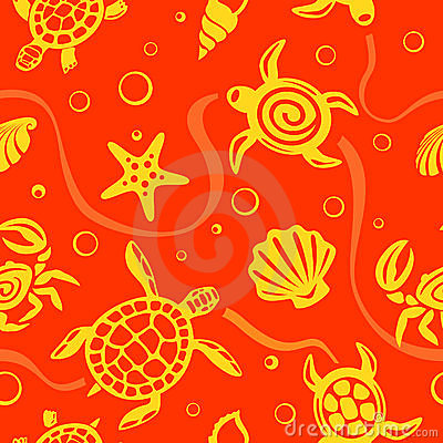 Seamless Beach Vector Pattern