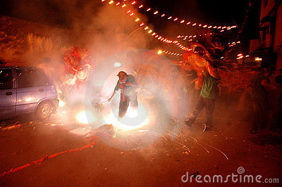 The Chinese New year Celebration In Kolkata-India