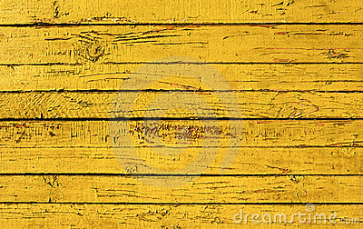 Yellow painted plank
