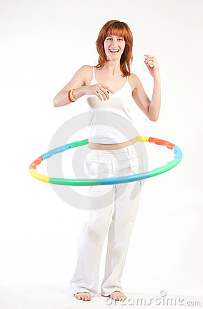Pretty girl with hula hoop