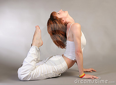 Girl practicing yoga