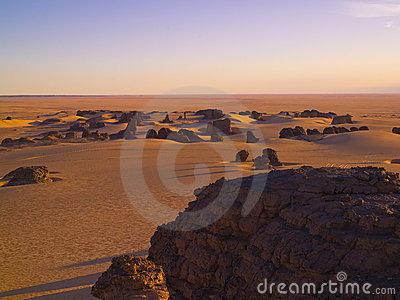 Algerian Sahara and rocks