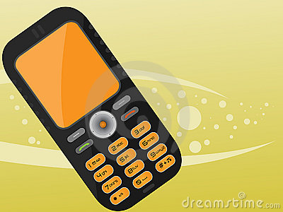 Orange black mobile phone