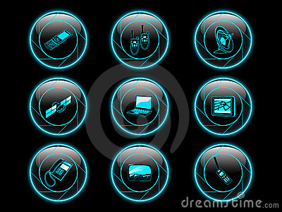 Communication icon buttons