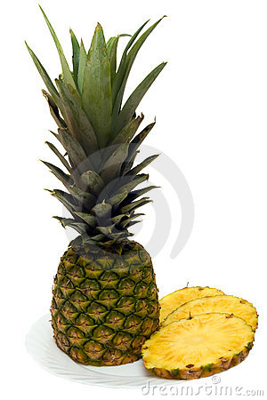 A ripe pineapple