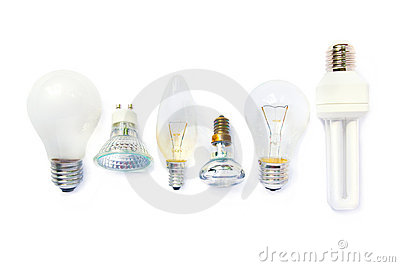 Variety of light bulbs