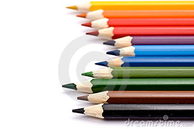A set of colorful pencils