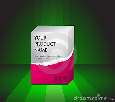 Product preview on a green