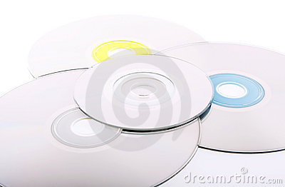 Abstract background of DVD's