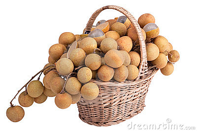 Dragon`s Eye Fruit in the shopping basket