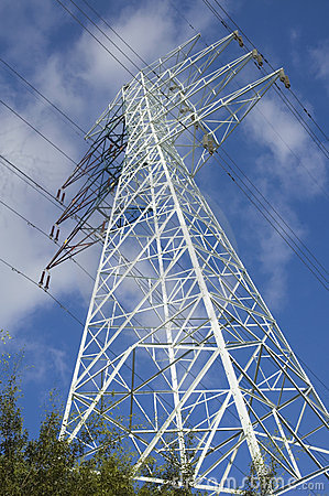 Electric Tower with high voltage cable