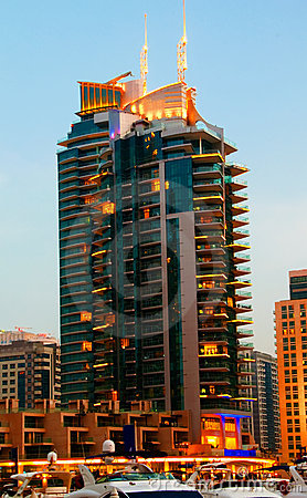 Dubai Marina Night Scene 8