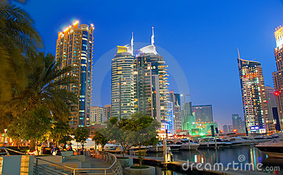 Dubai Marina Night Scene 7
