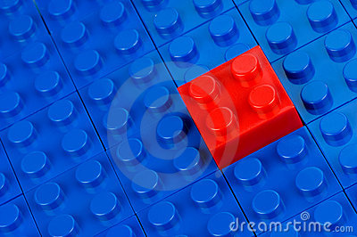 Red building block