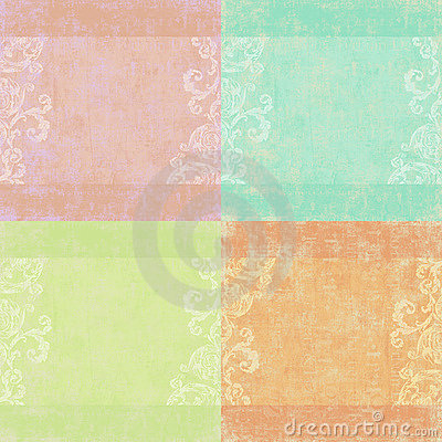 Set of four shabby floral backgrounds