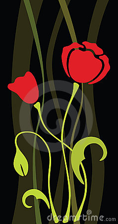 Poppy vector flower