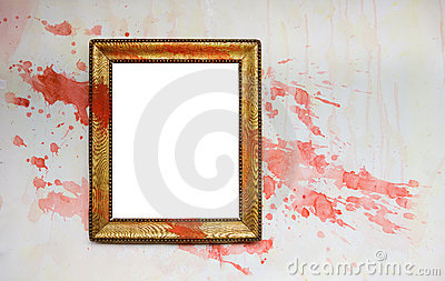Vintage grunge frame with paint splatters