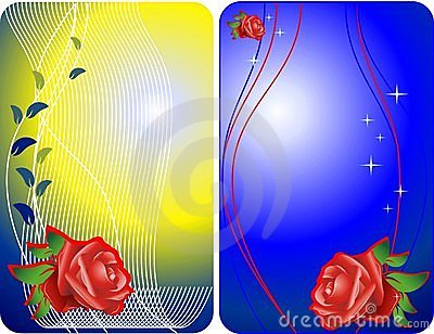 Roses vector cards