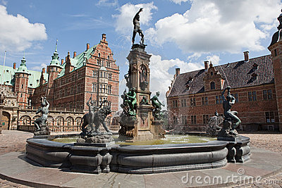 Fountain on Frederiksborg castle