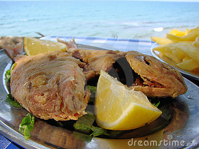 Fresh fish by the sea