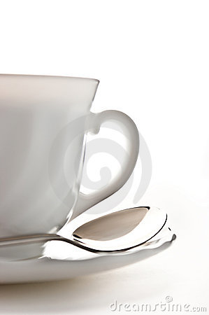 Cup with saucer and spoon