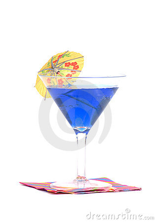 Cocktail on napkin with