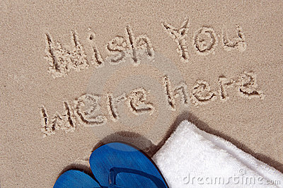 Message written on sand