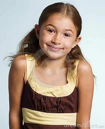 Adorable little latino girl