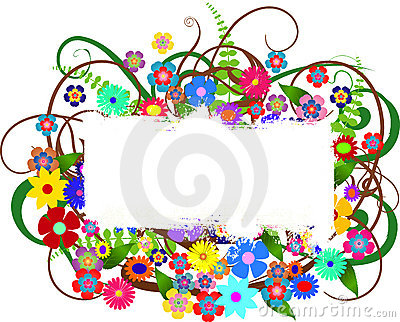 Floral banner with space for your text