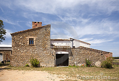 Typical farm in Catalunya