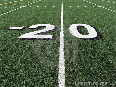 High School Football Field Yardage Marker