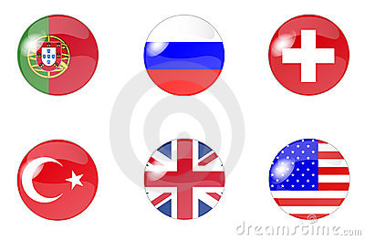 Set of buttons with flag 3