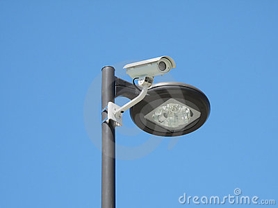 Closed Circuit Camera Located on Light Post