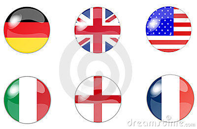 Set of buttons with flag 6