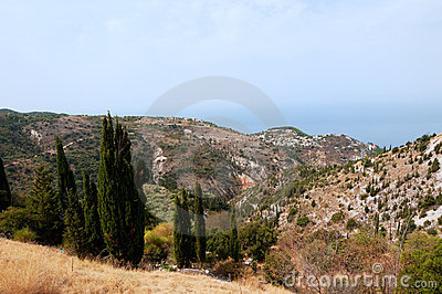Greek landscape at Lefkas