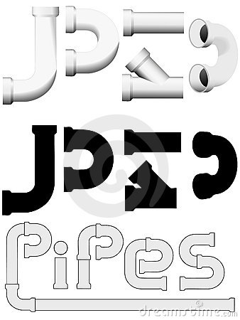 Plumbers plumbing pipes construction set