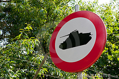 Forbidden for military tanks