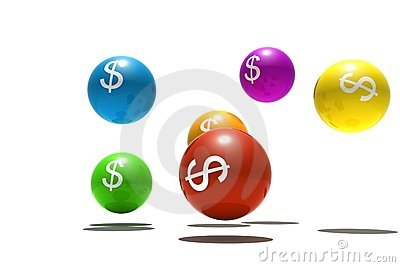 Isolated spheres with dollar symbol